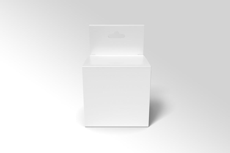 方形产品包装纸盒设计展示样机模板 Square Box Mockup Packaging插图(4)