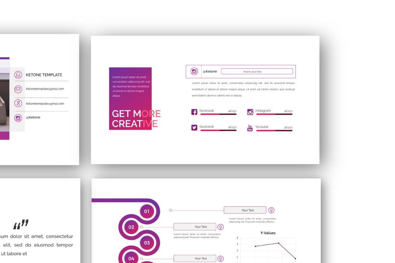 创意多用途商务营销幻灯片设计模板 KETONE – Powepoint Template Business Corporate插图(4)