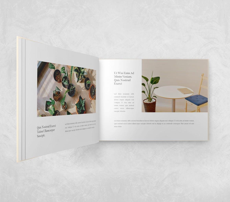 横向精装书画册设计智能贴图样机 Landscape Book – Mockup Vol.2插图(4)
