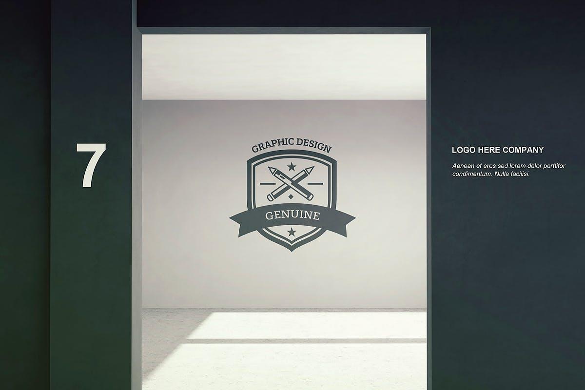 8款标牌徽标LOGO设计展示样机模板 Signage & Logo Mockup插图(4)