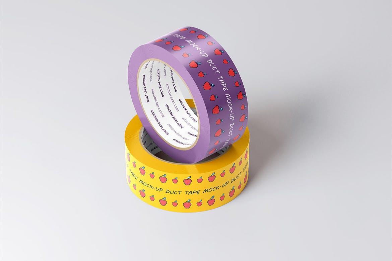 8款不干胶贴纸设计展示样机模板 Duct Tape Mockup插图(4)