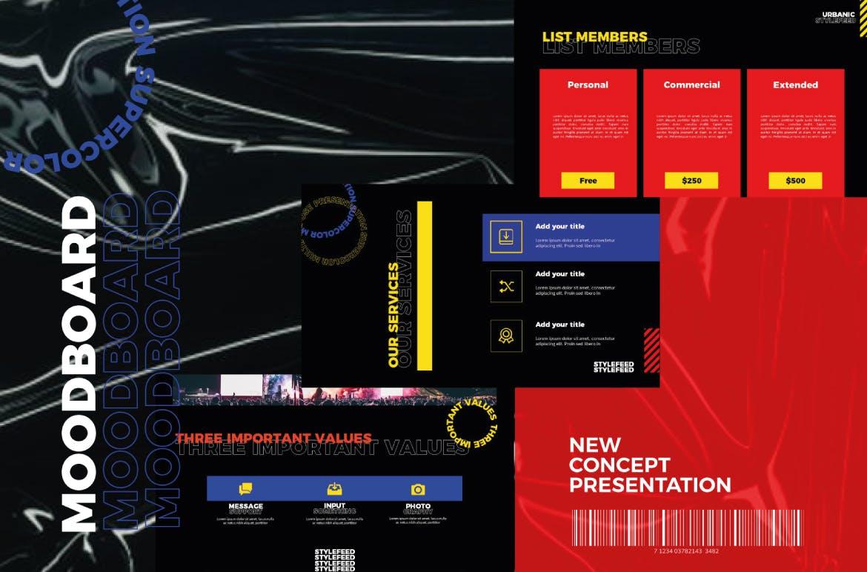 潮流服装摄影作品集PPT幻灯片设计模板 Urbanic Powerpoint Templates插图(3)