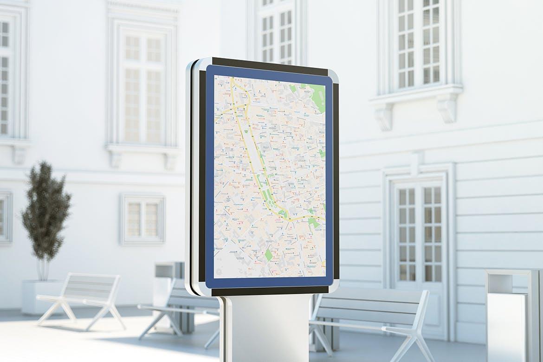 城市灯箱广告牌设计展示样机 City Light Board Mockup插图(4)