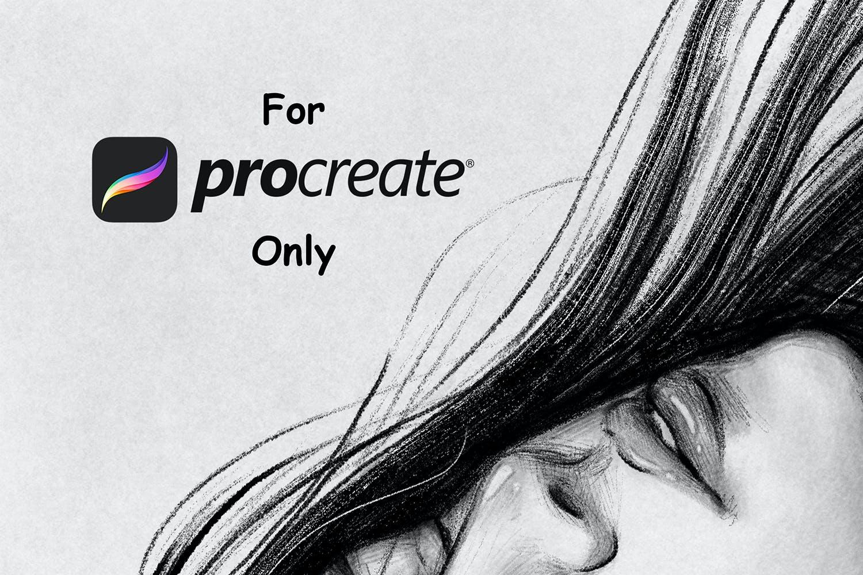 素描铅笔绘画效果Procreate笔刷下载 Sketcher Brushes – Procreate Brush插图(4)