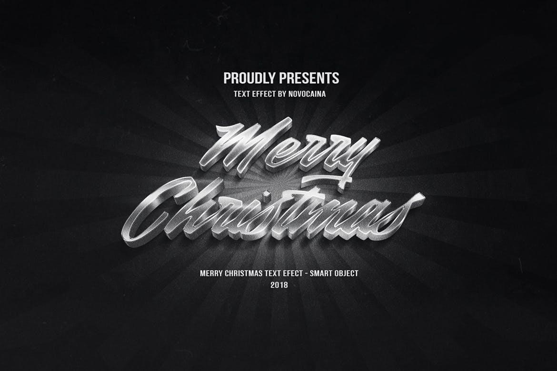 金属质感立体效果圣诞文字PS样式模板 Christmas Text Effects插图(4)