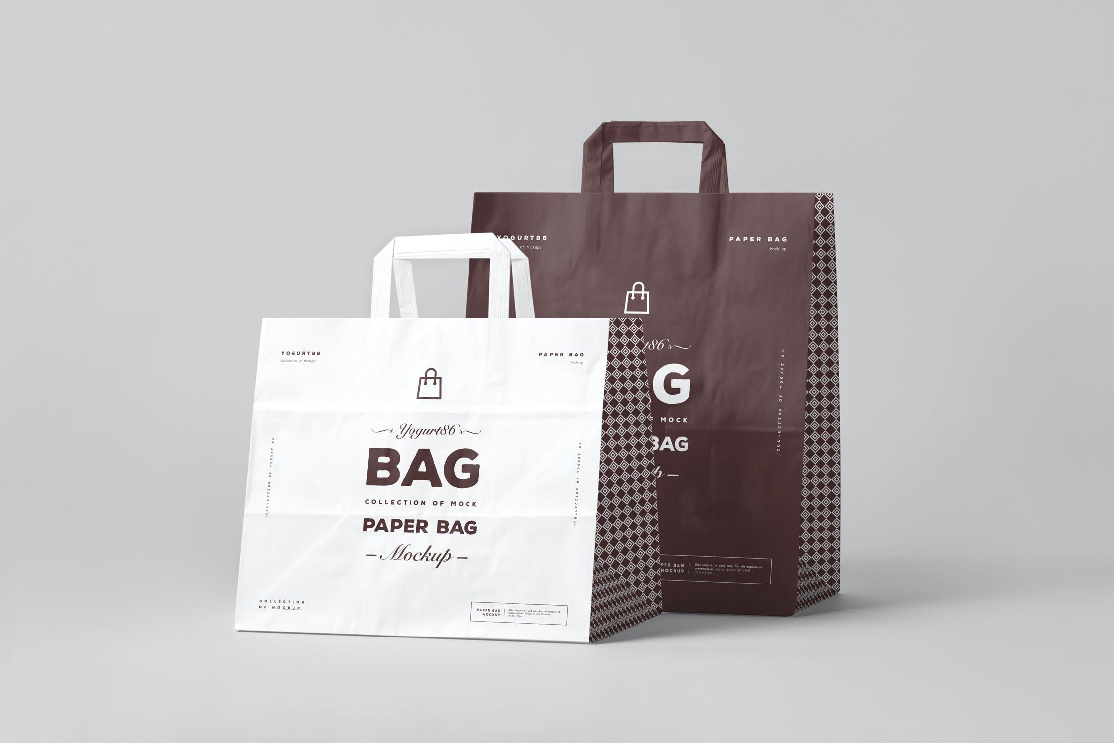 11款商城购物手提纸袋设计展示样机 Paper Bag Mockup 3插图(4)