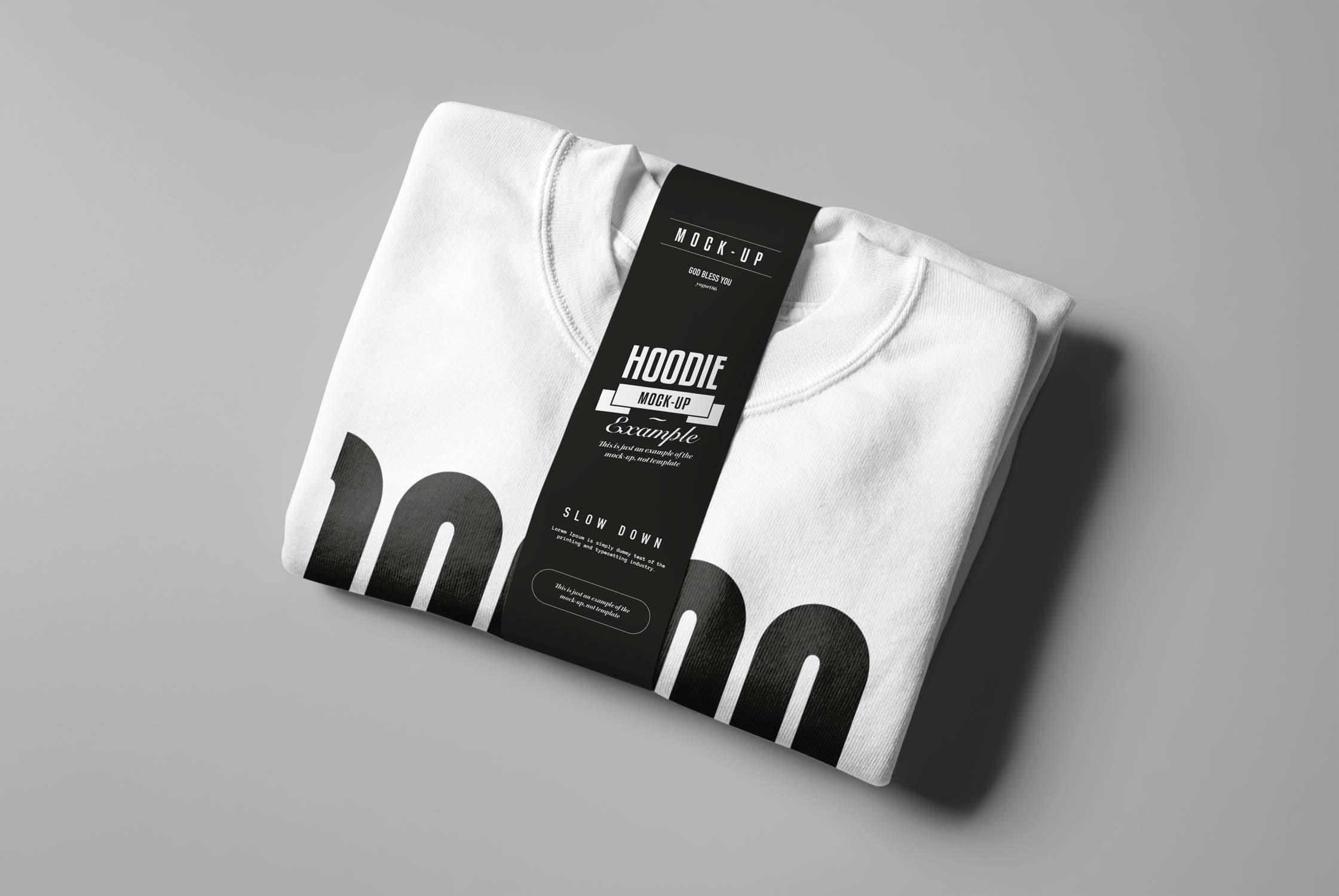 6款圆领毛衣印花设计展示样机模板 Crewneck Sweater Mockup插图(4)