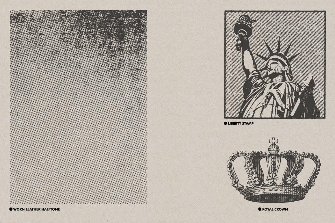 30款复古矢量插图背景纹理素材 Vintage Textures Pack插图(4)