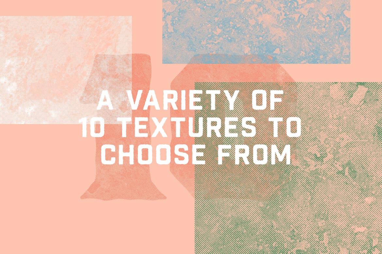 复古半色调大理石纹理矢量素材 Vintage Halftone Marble Textures插图(4)
