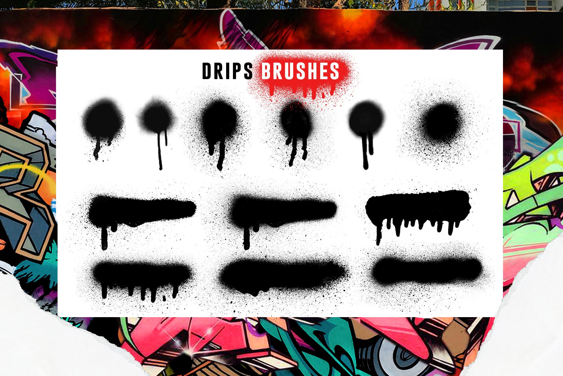 31款涂鸦效果Procreate笔刷下载 Graffiti Bombing Procreate Brush Kit插图(6)