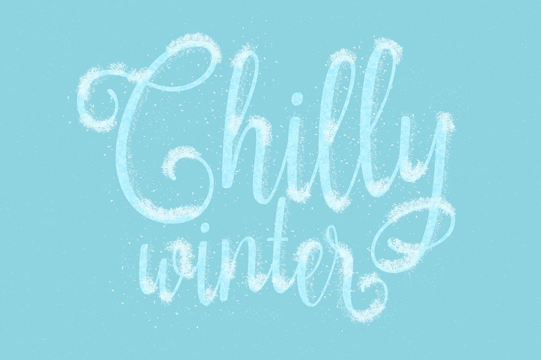 30个冬季雪花AI矢量笔刷素材 Snow And Winter Brushes For Adobe Illustrator插图(4)