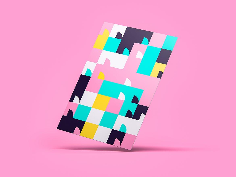 70种彩色几何艺术图案背景素材包 70 Geometric Colorful Art Patterns Pack插图(4)