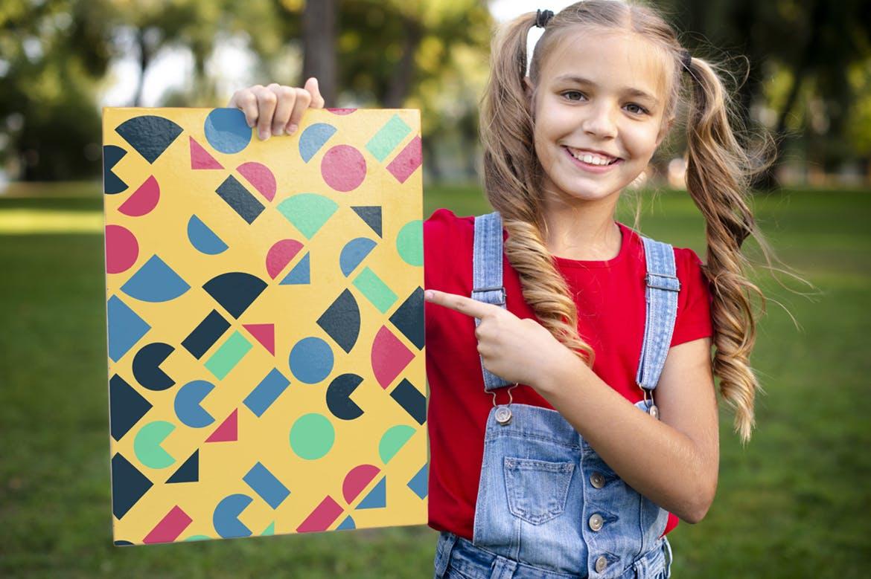135复古多彩几何艺术图案矢量背景素材 135 Geometric Colorful Art Retro Patterns 001插图(4)