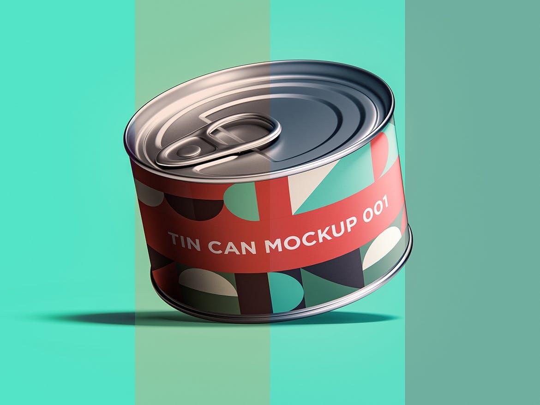 12款食品罐头易拉罐锡罐外观设计展示样机模板 Tin Can Mockup Set插图(4)