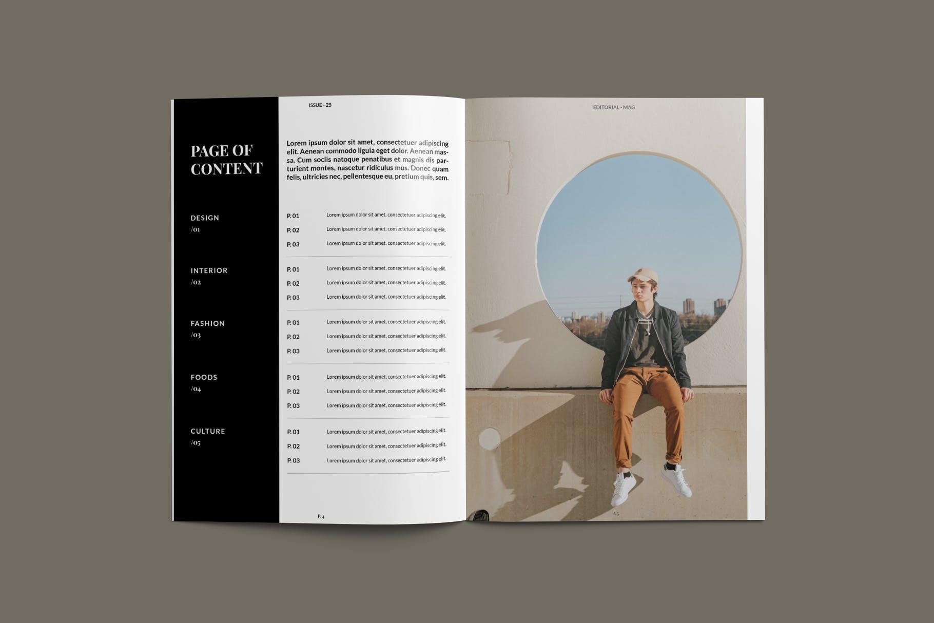 现代时尚摄影作品集设计画册INDD模板 Magazine Template插图(4)