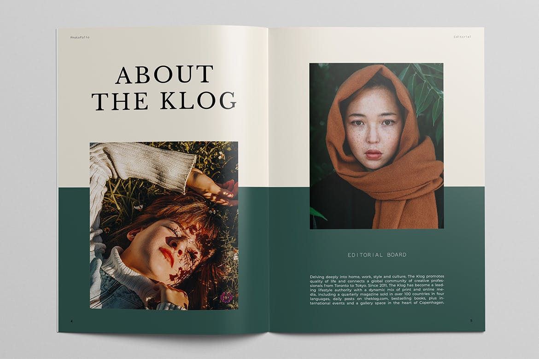 极简摄影作品集宣传册设计INDD模板 Photography Portfolio Brochure Template插图(4)