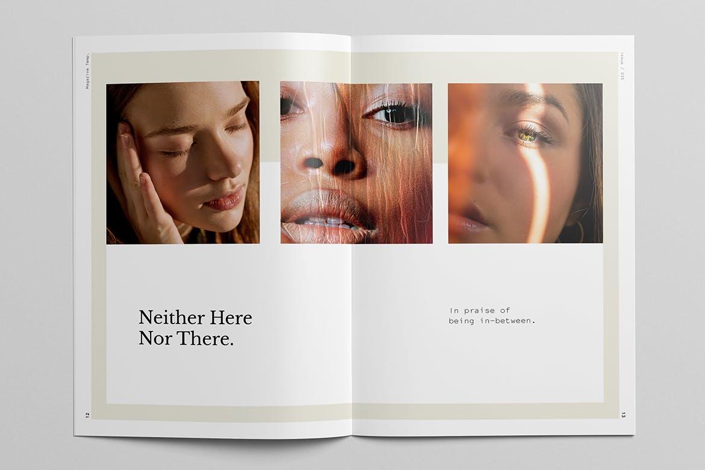 时尚摄影作品集宣传画册设计INDD模板 Photography Portfolio Brochure Template插图(4)