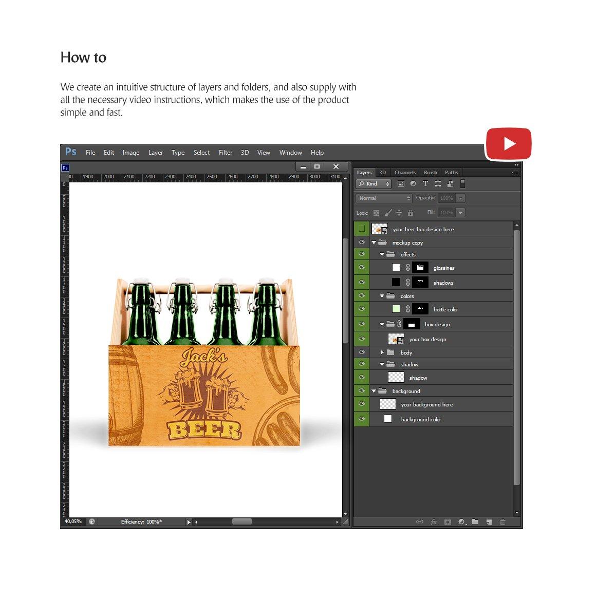 工艺啤酒包装盒设计展示样机模板 Craft Beer Box Mockup插图(4)