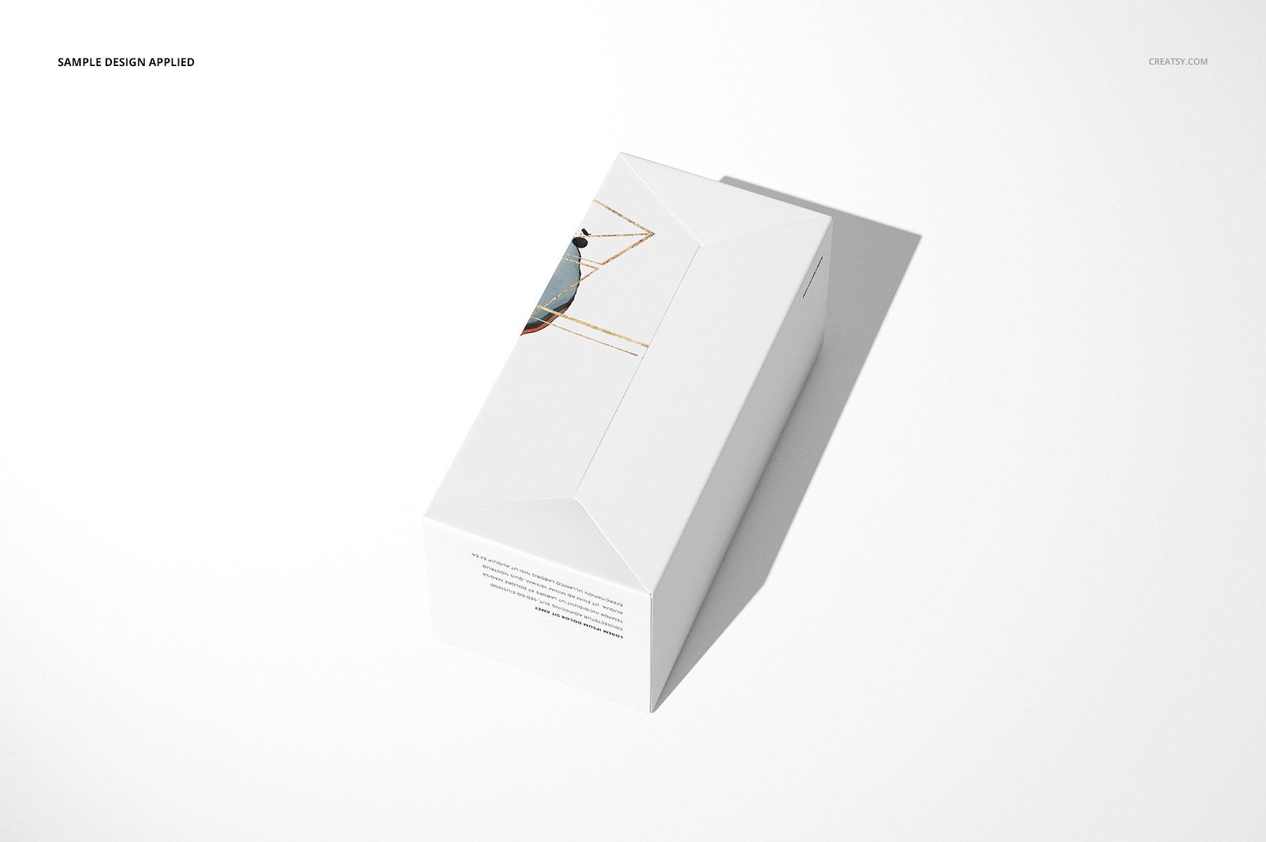 长矩形产品包装卡扣锁底纸盒样机集 Snap Lock Bottom Box Mockup Set插图(6)