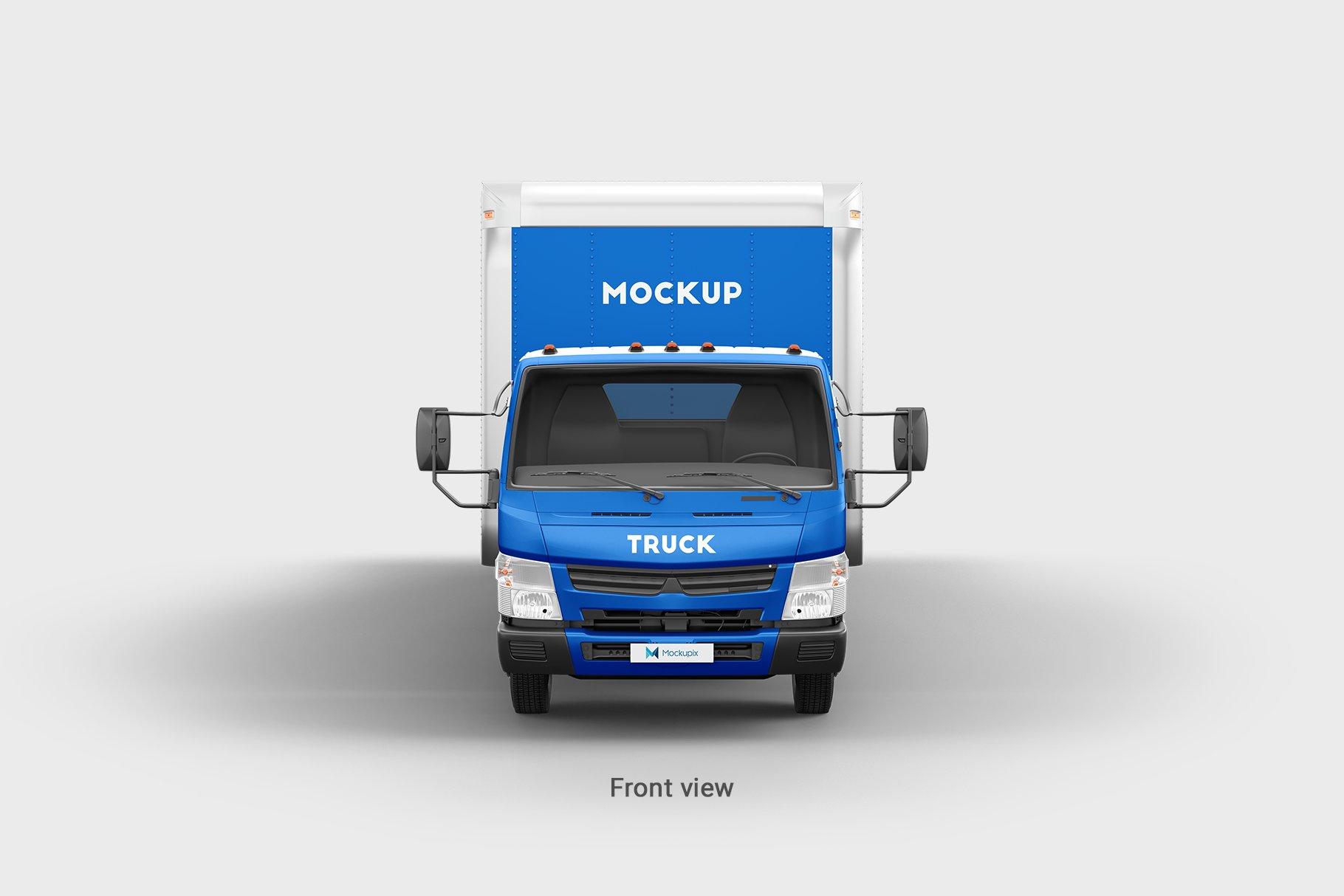 6款厢式货车卡车车身广告设计展示样机 Truck Mockup 4插图(5)