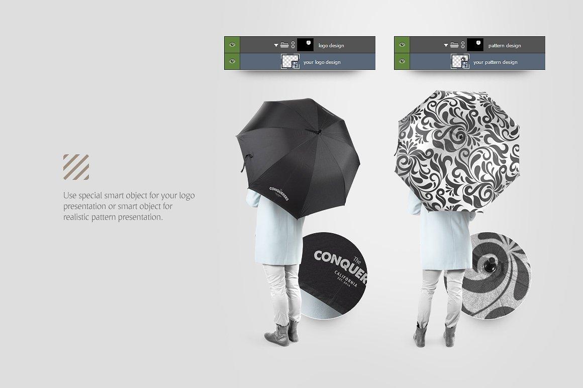太阳伞雨伞印花设计展示样机模板 Umbrella Mockup插图(5)