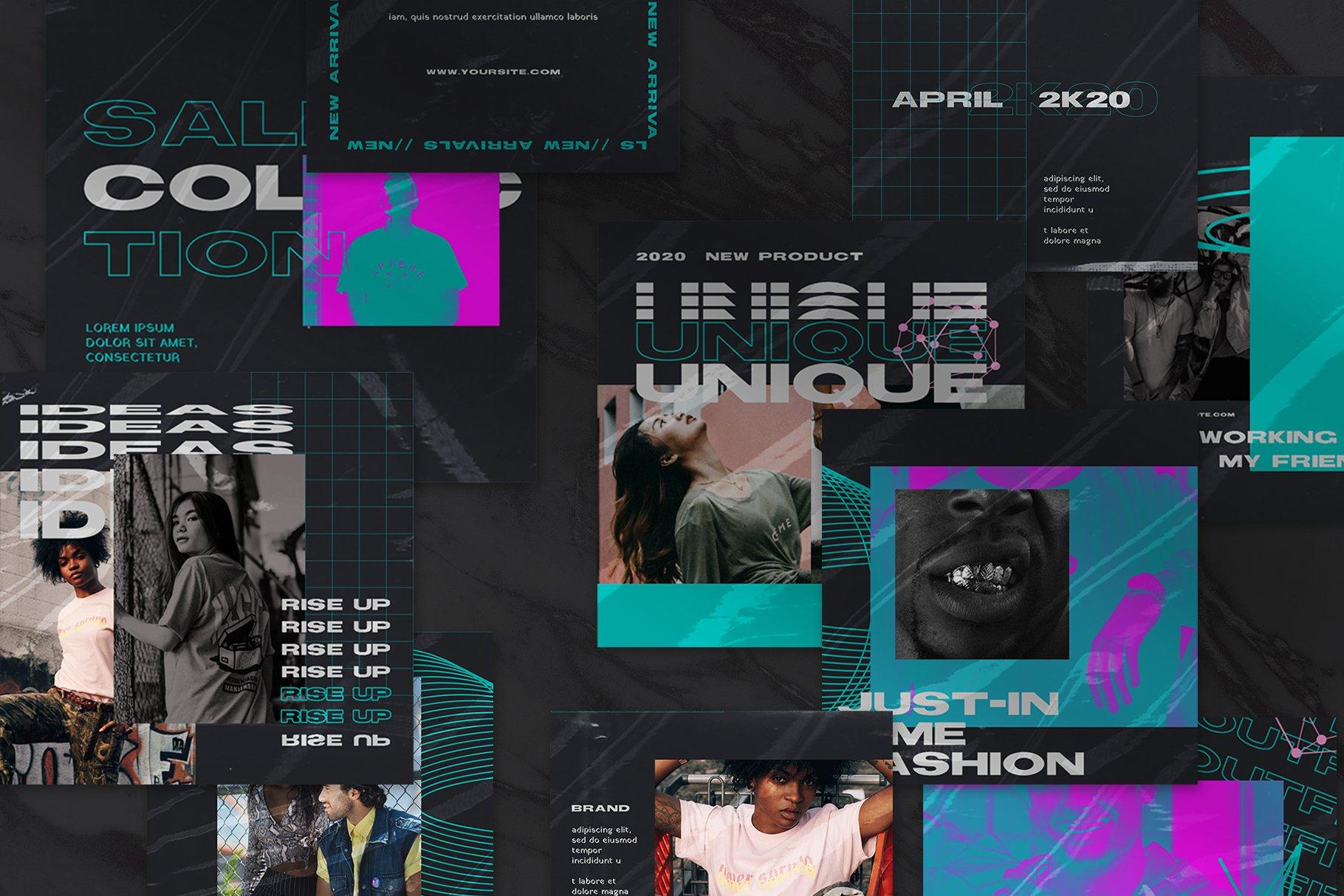 潮流品牌推广新媒体海报设计模板 Gumond Puzzle Instagram Feed插图(4)