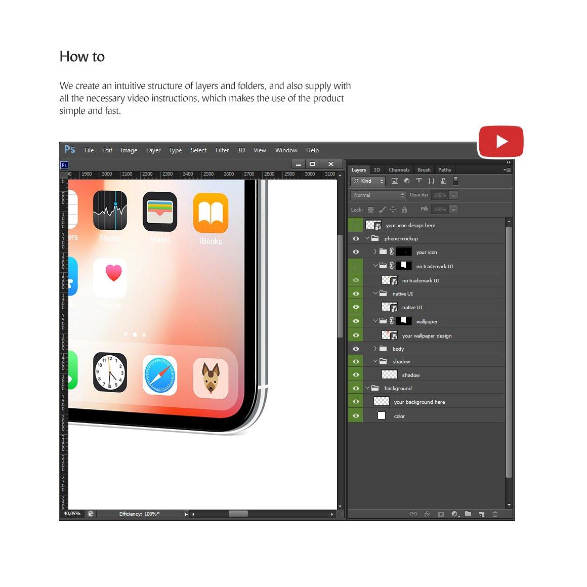APP应用界面设计手机屏幕演示样机 Phone App Mockups Set插图(5)