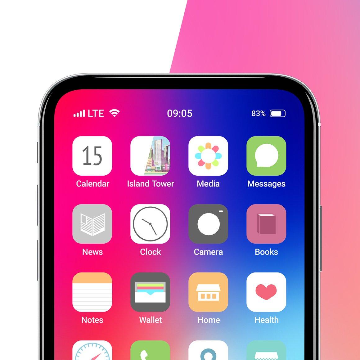 APP应用界面设计手机屏幕演示样机 Phone App Mockups Set插图(6)
