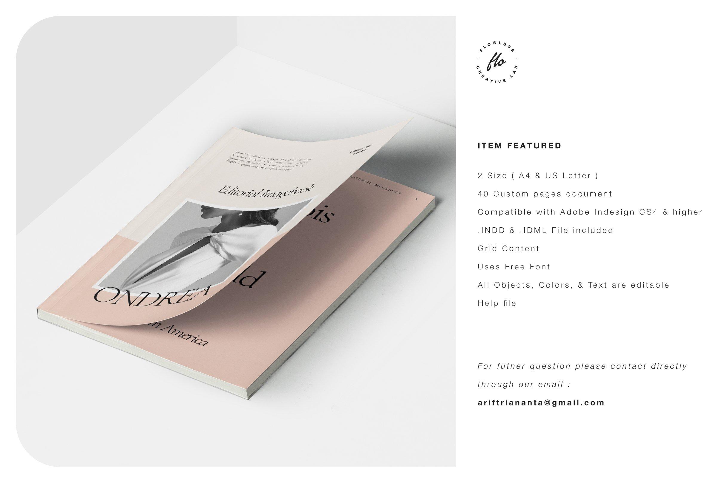 时尚服装设计作品集INDD画册模板 ONDREA Editorial Imagebook插图(5)