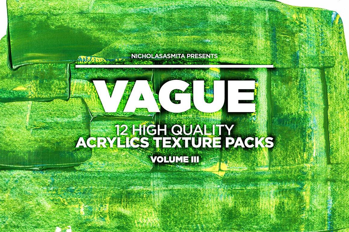 12款高清炫彩丙烯酸涂料背景纹理图片素材 Vague III: 12 Acrylics Textures插图(7)