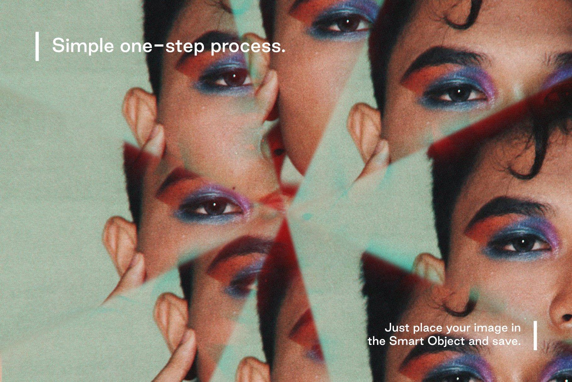 梦幻抽象艺术万花筒棱镜玻璃反射特效滤镜PS样式模板 Prizm – Lens & Prism Distortions插图5