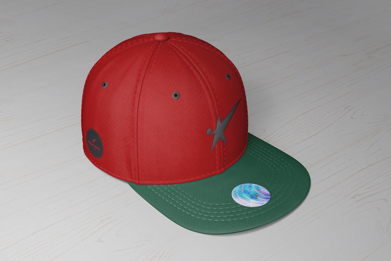 9款棒球帽印花设计展示样机模板 Snapback Baseball Cap Mockups Vol.1插图(5)