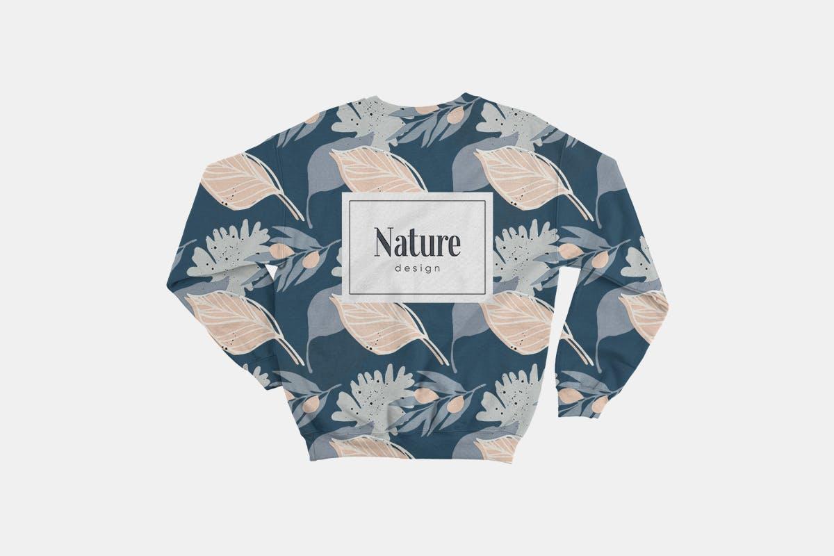 手绘自然花卉植物艺术背景图矢量素材 Floral Backgrounds & Patterns插图(5)