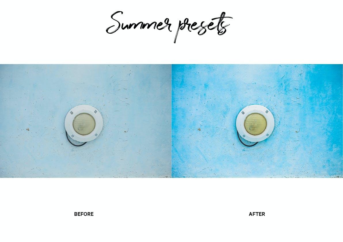 30款夏季海滩摄影照片调色LR预设模板 Summer Lightroom Presets插图(5)