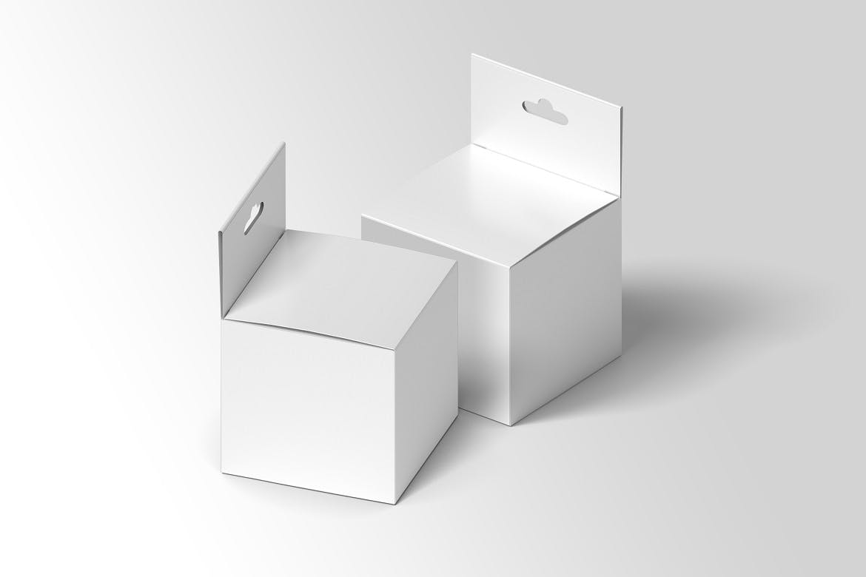 方形产品包装纸盒设计展示样机模板 Square Box Mockup Packaging插图(5)