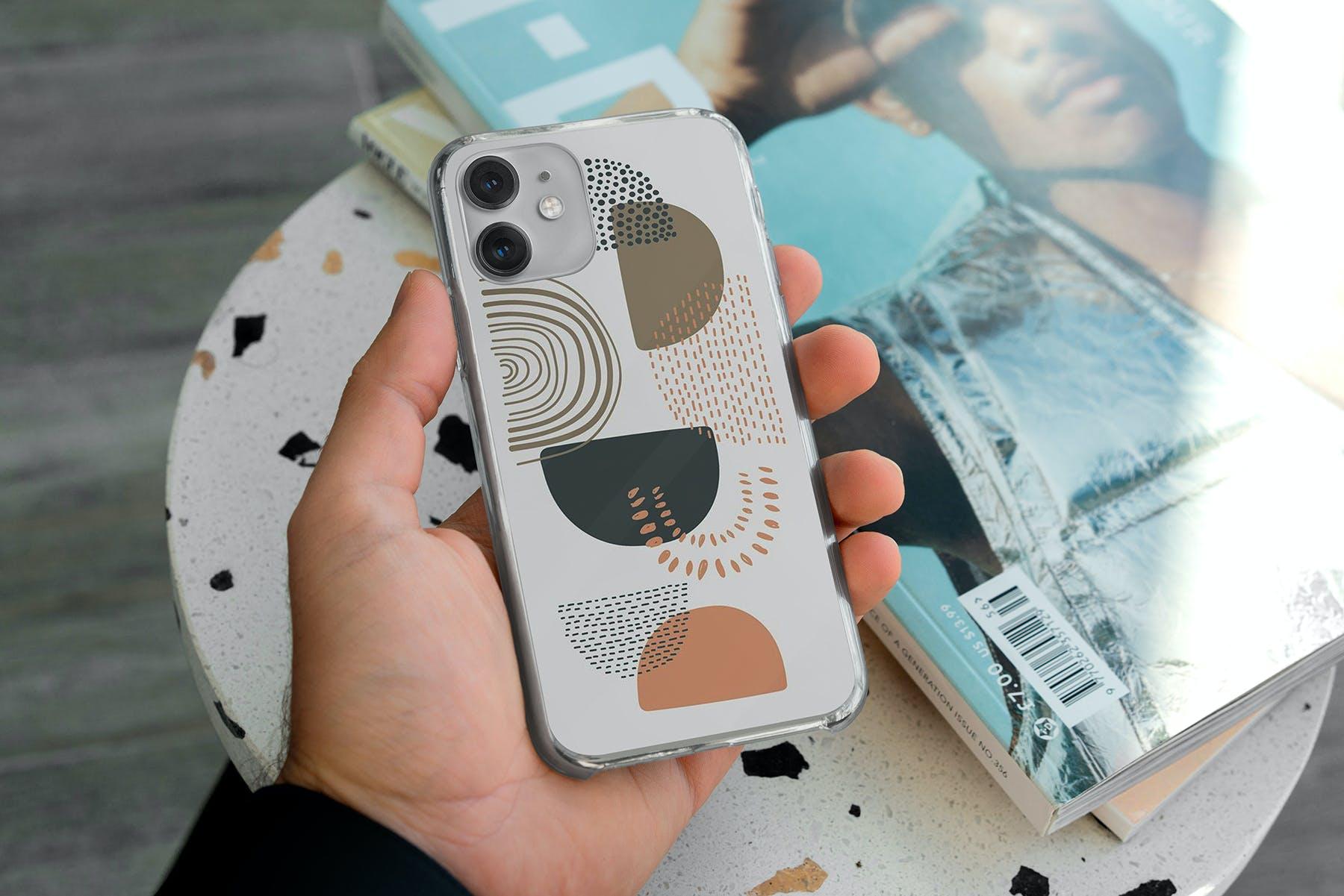 11款Phone 11/Pro智能手机壳外观设计展示样机模板 Phone 11/Pro Clear Case Mockup插图(5)