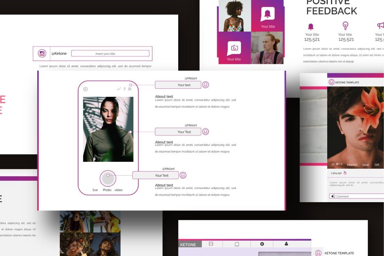 创意多用途商务营销幻灯片设计模板 KETONE – Powepoint Template Business Corporate插图(5)