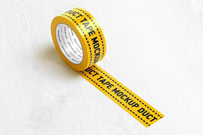 8款不干胶贴纸设计展示样机模板 Duct Tape Mockup插图(5)
