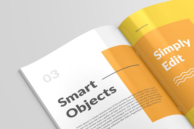 6款画册杂志设计展示样机模板 Magazine Close Up Mockup插图(5)