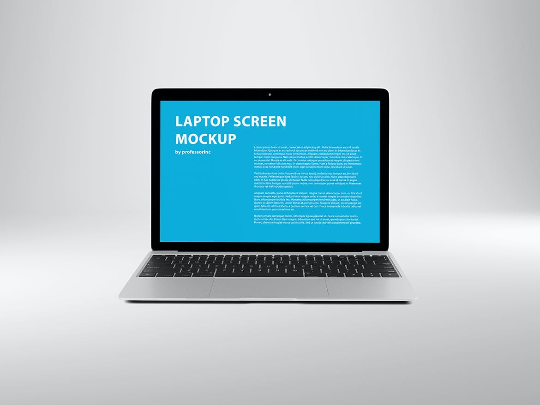 网页WEB设计笔记本电脑屏幕演示样机 14×9 Screen Mockup – Silver插图(5)