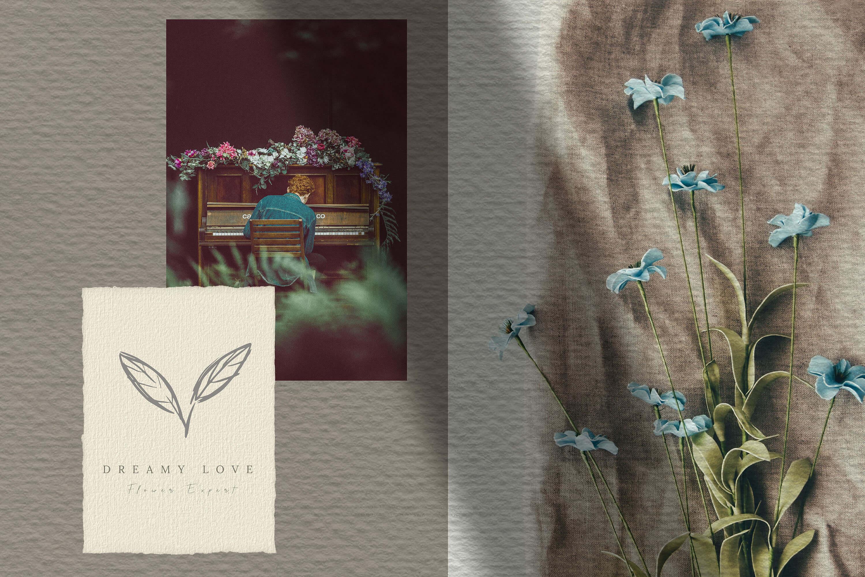 27款手绘植物标志元素设计矢量素材 Hand Drawn Botanical Logo Elements插图(5)