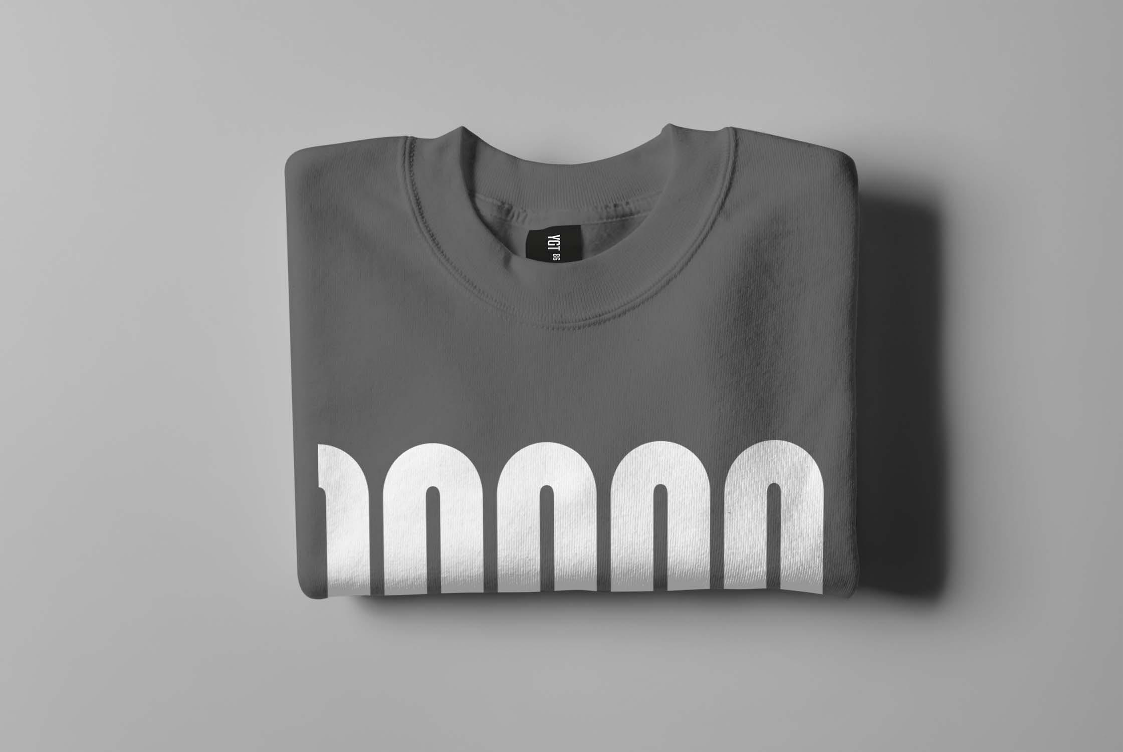 6款圆领毛衣印花设计展示样机模板 Crewneck Sweater Mockup插图(5)