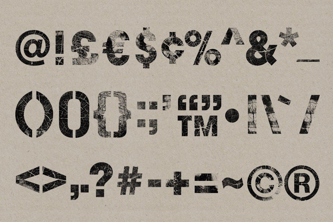 高清木纹字母符号背景纹理素材 Wood Grain Type插图(5)