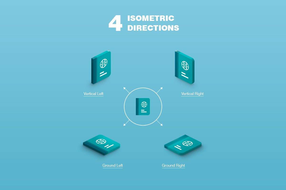 3D等距地图图标生成器PS动作 Isometric Illustration – 3D Generator插图(5)
