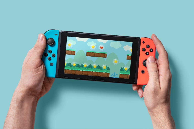 8款Wii U掌上游戏机游戏设计预览样机 8 Switch Console Mockups插图(5)