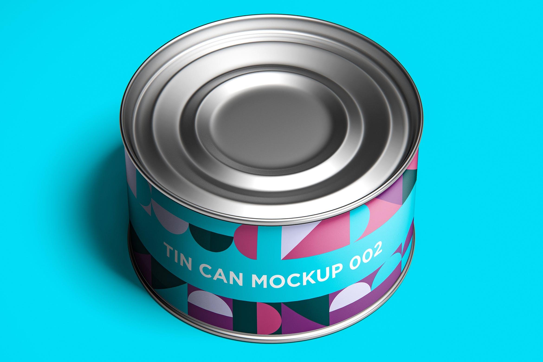 12款食品罐头易拉罐锡罐外观设计展示样机模板 Tin Can Mockup Set插图(5)