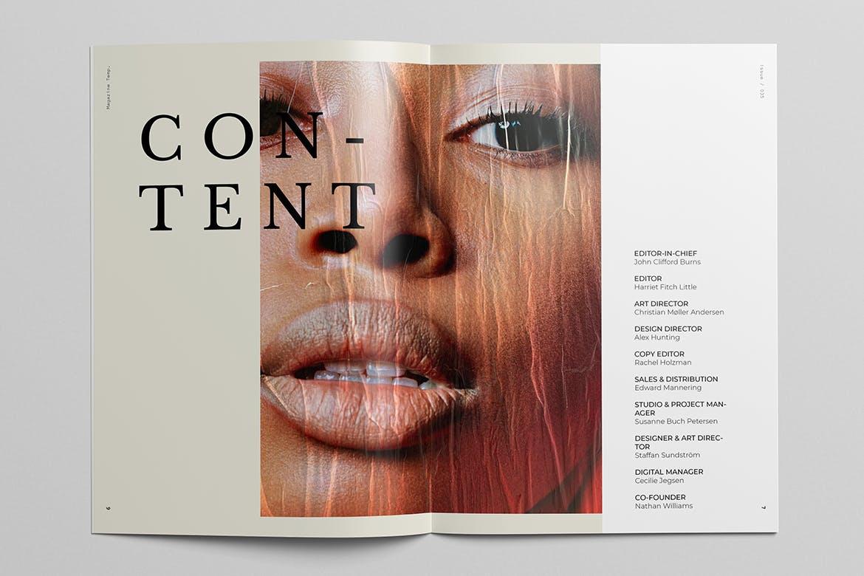 时尚摄影作品集宣传画册设计INDD模板 Photography Portfolio Brochure Template插图(5)