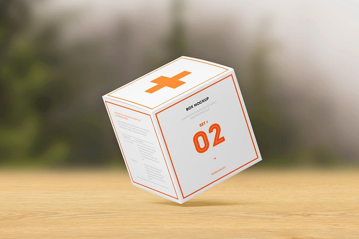 7款方形产品包装纸盒外观设计展示样机模板 Package Box Mockup: Square Box插图(5)
