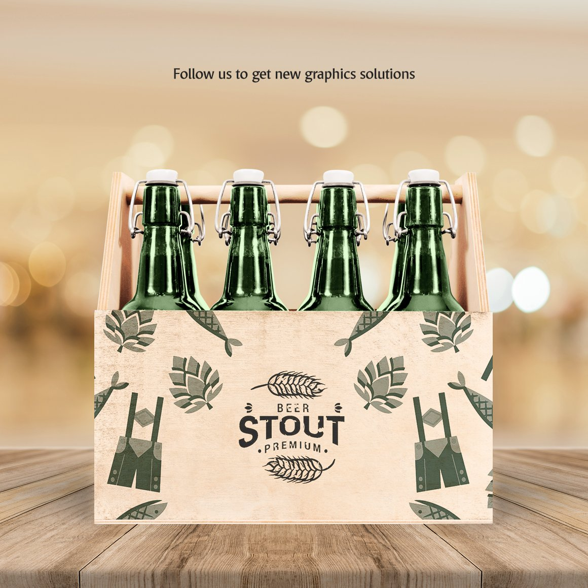 工艺啤酒包装盒设计展示样机模板 Craft Beer Box Mockup插图(5)
