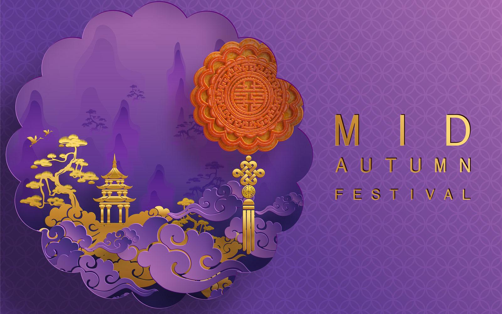 38款中国风中秋节主视觉海报插画AI广告设计素材源文件 Mid Autumn Festival Vector Pattern插图(31)